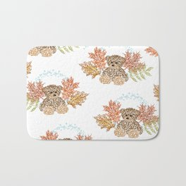 Autumn Bears Bath Mat