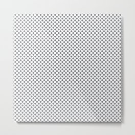 Sharkskin Polka Dots Metal Print