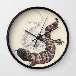 Gila Monster & Skeleton Wall Clock