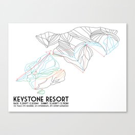 Keystone, CO - Minimalist Trail Map Canvas Print