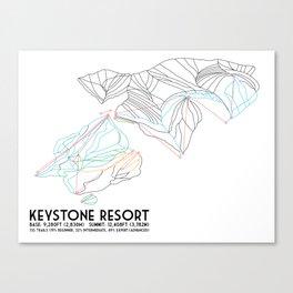 Keystone, CO - Minimalist Trail Map Canvas Print