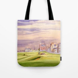 St Andrews Golf Course Scotland 17th Green Tote Bag