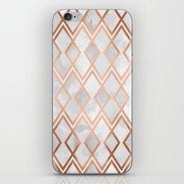 Copper & White Geo Diamonds iPhone Skin