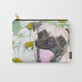 Daisy The Happy Pug Carry-All Pouch