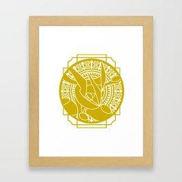 Stained glass - Pokémon - Greninja Framed Art Print