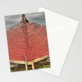 Red Boat at Rest Stationery Cards
