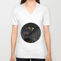 saturn V-neck T-shirts featuring Saturn by Cs025