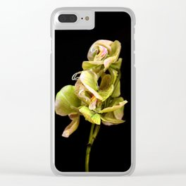 Green orchid Clear iPhone Case