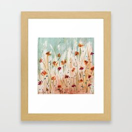 Tiger Lilies, Coneflowers, & Those Blue Things Framed Art Print