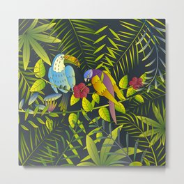 Tropical Paradise Pattern 2 Metal Print
