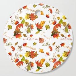 Autumn Leaves Hello Fall! Cutting Board