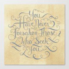 Psalm 9 Canvas Print