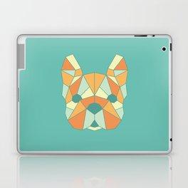 Geo Frenchie - Teal & Orange Laptop & iPad Skin