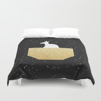 pocket Duvet Covers featuring ANIMAL POCKET by Marg