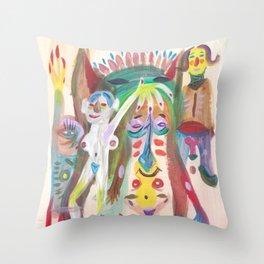 Orgy Throw Pillow