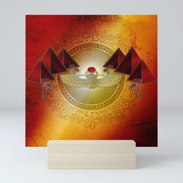 Egyptian sign, the scarab Mini Art Print