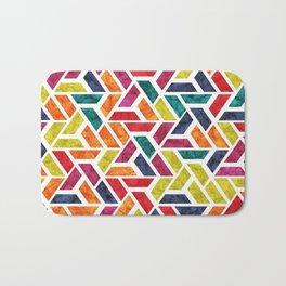 Seamless Colorful Geometric Pattern XII Bath Mat