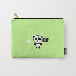 Panda Pirate with Flag T-Shirt for all Ages Da19o Carry-All Pouch