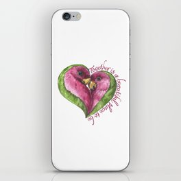 Together is a beautiful place to be iPhone Skin