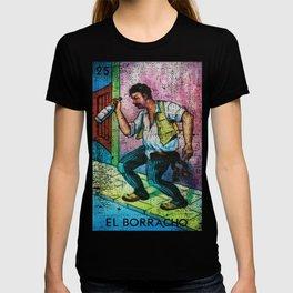 El Borracho Mexican Loteria Bingo Card T-shirt