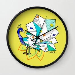 Peacock geometric Wall Clock