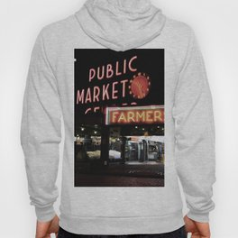 Pike Place Farmers Market - at night Hoody
