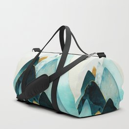 Gold and Blue Hills Duffle Bag