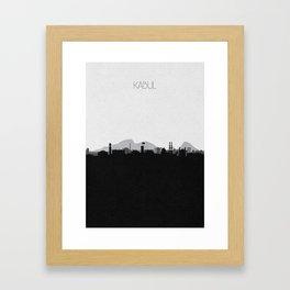 City Skylines: Kabul Framed Art Print