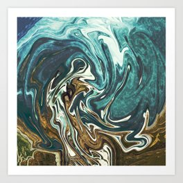 Abstract Painting X 4 Art Print