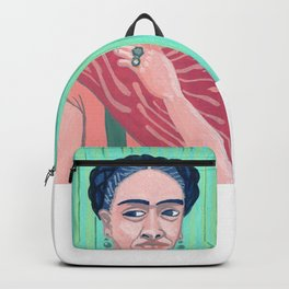 Frida Kahlo Mexican Artist gouche painting print Backpack