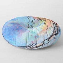 Jellyfish meet Jellyfish Floor Pillow