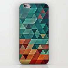 Teal/Orange Triangles iPhone Skin