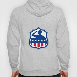 American Soldier Saluting USA Flag Crest Icon Hoody