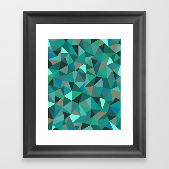 Frost Forest Framed Art Print