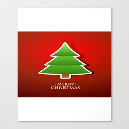 Merry Christmas Tree For Christmas Eve Canvas Print