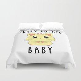 Funny Golden Hamster Pet Furry Potato Baby Gift Design Duvet Cover