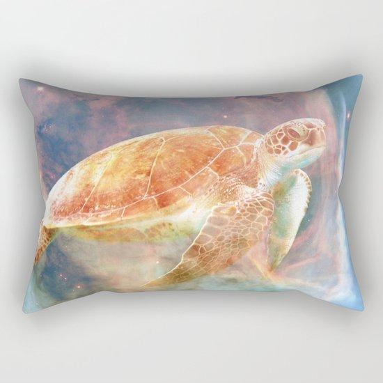 Nebula Turtle Rectangular Pillow