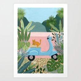 Kessie's Scooter Art Print