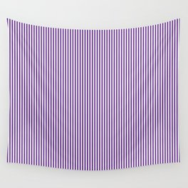 Purple Pinstripes Wall Tapestry
