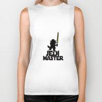 jedi Biker Tanks featuring JEDI MASTER by G3no
