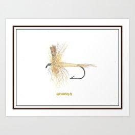 Light Cahill Dry Fly Art Print