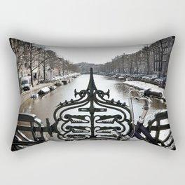Amsterdam Canal Rectangular Pillow