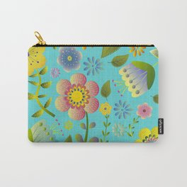 Petty Floral Pattern 3 Carry-All Pouch