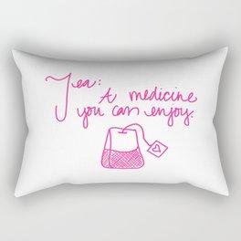 Tea: A medicine you can enjoy. Rectangular Pillow