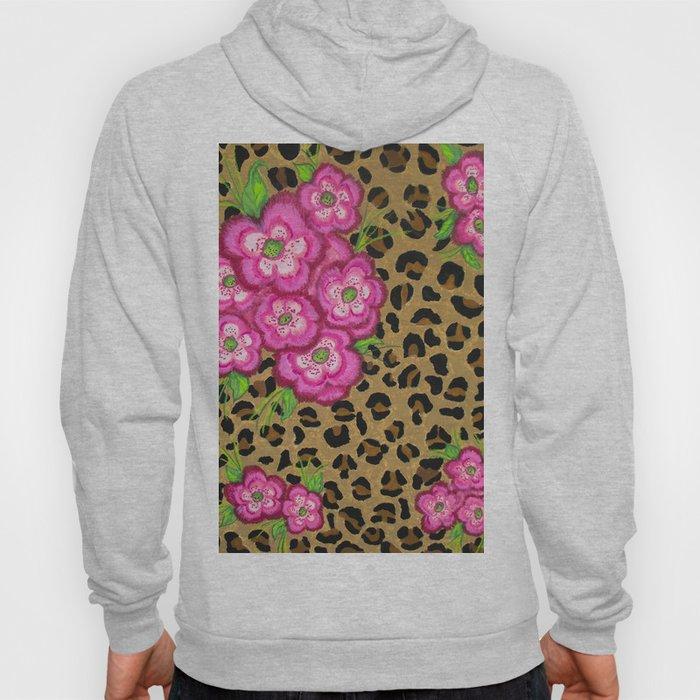 Floral leopard print Hoody