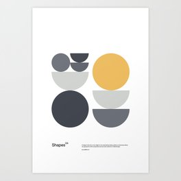 Shapes 04 - Bauhaus / Swiss Design Art Print