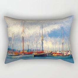 Waiting to sail Rectangular Pillow