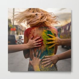 Festival of Colors Metal Print
