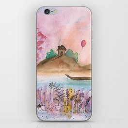 Watercolor Refuge Landscape iPhone Skin