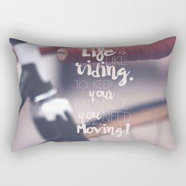 Einstein Quote on life motivation, balance, moving on, going on, inspiration Rectangular Pillow
